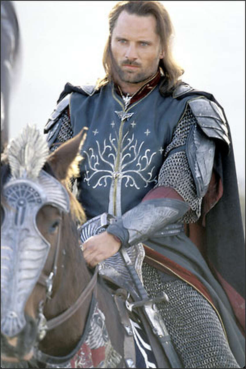 Aragorn (Viggo Mortensen) reluctantly accepts his ancestral legacy and assumes his rightful role as the leader of the armies of Men in the struggle against the Dark Lord Sauron.