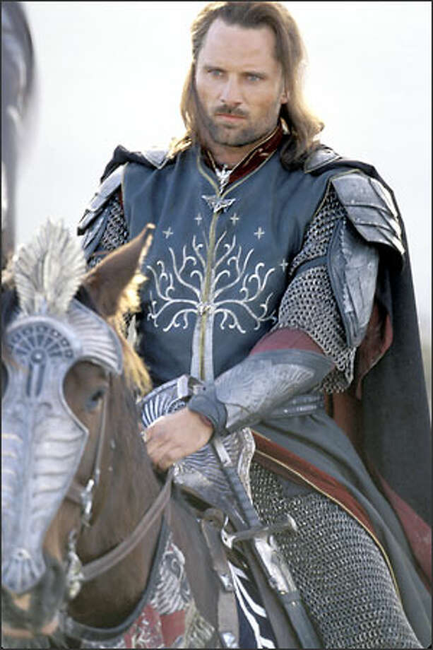 Aragorn (Viggo Mortensen)  reluctantly accepts his ancestral legacy and assumes his rightful role as the leader of the armies of Men in the struggle against the Dark Lord Sauron. Photo: New Line Cinema