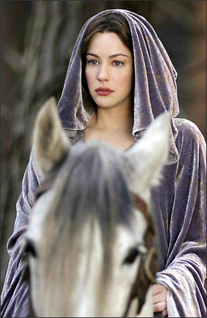 Arwen (Liv Tyler) contemplates her future -- immortality with her people or life with Aragorn, the mortal Man she loves.