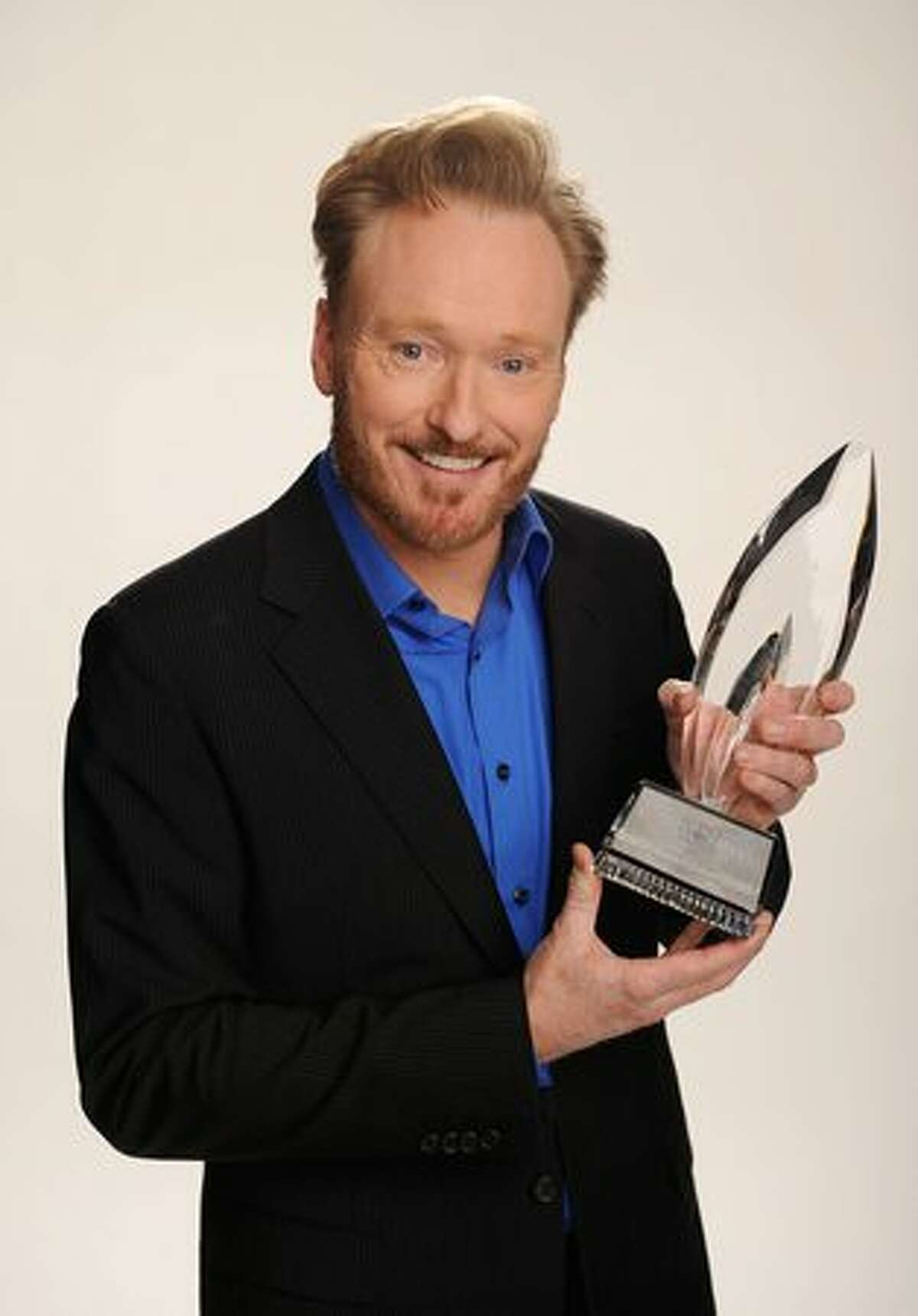 TV host Conan O'Brien, winner of the Favorite Talk Show Host award, poses for a portrait during the 2011 People's Choice Awards at Nokia Theatre L.A. Live in Los Angeles on Wednesday, Jan. 5, 2011.