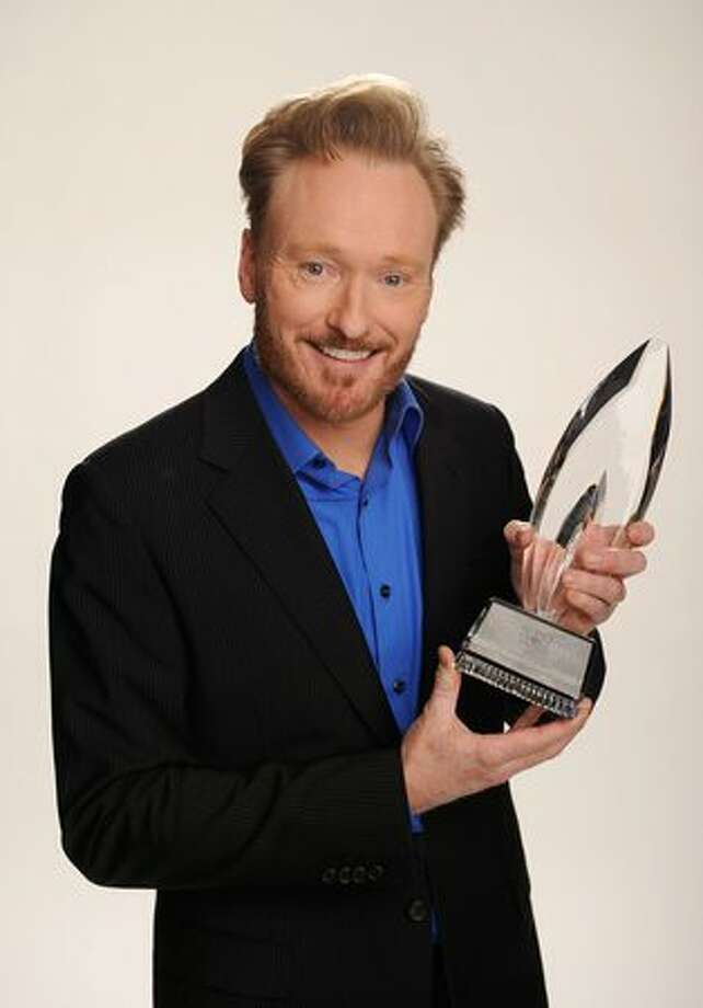 TV host Conan O'Brien, winner of the Favorite Talk Show Host award, poses for a portrait during the 2011 People's Choice Awards at Nokia Theatre L.A. Live in Los Angeles on Wednesday, Jan. 5, 2011. Photo: Getty Images