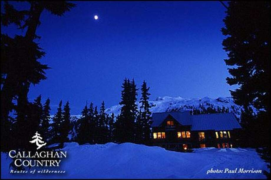 Callaghan Country Lodge, 12.4 miles south of the main Whistler ski resort in British Columbia, adjoins the site of Nordic skiing and ski-jumping in the 2010 Winter Olympics.  It is the area's only full service, remote access wilderness adventure lodge.  Guests ski in or arrive by snow coach or snowmobile.  http://www.callaghancountry.com or 1-877-938-0616. (callaghancountry.com)