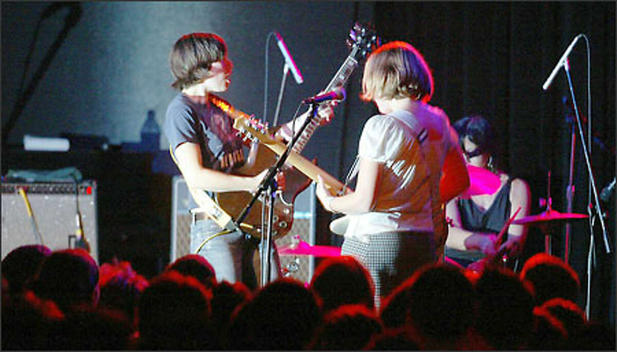 Carrie Brownstein and Corin Tucker met as students at Evergreen State College in Olympia and formed Sleater-Kinney in 1994. They headlined two shows this weekend at The Showbox in Seattle.
