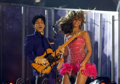 2004: Prince and Beyonce Knowles. Photo: Getty Images