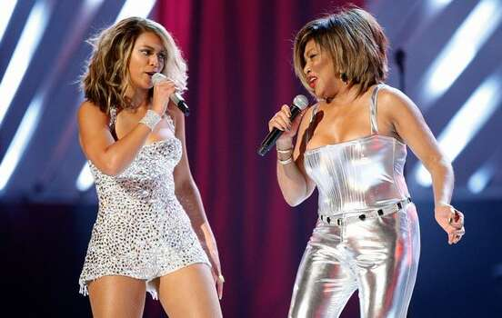 2008: Beyonce Knowles (left) and Tina Turner. Photo: Getty Images