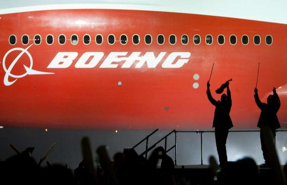 Boeing's new 747-8 Intercontinental is unveiled on Sunday. Photo: Joshua Trujillo, Seattlepi.com