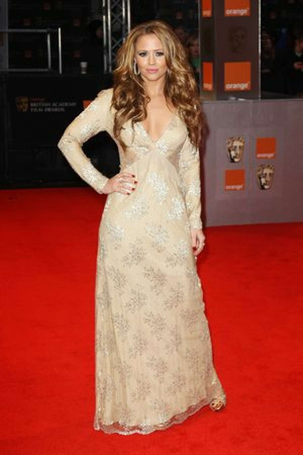 Kimberley Walsh arrives at the Orange British Academy Film Awards 2011 held at The Royal Opera House in London, England.