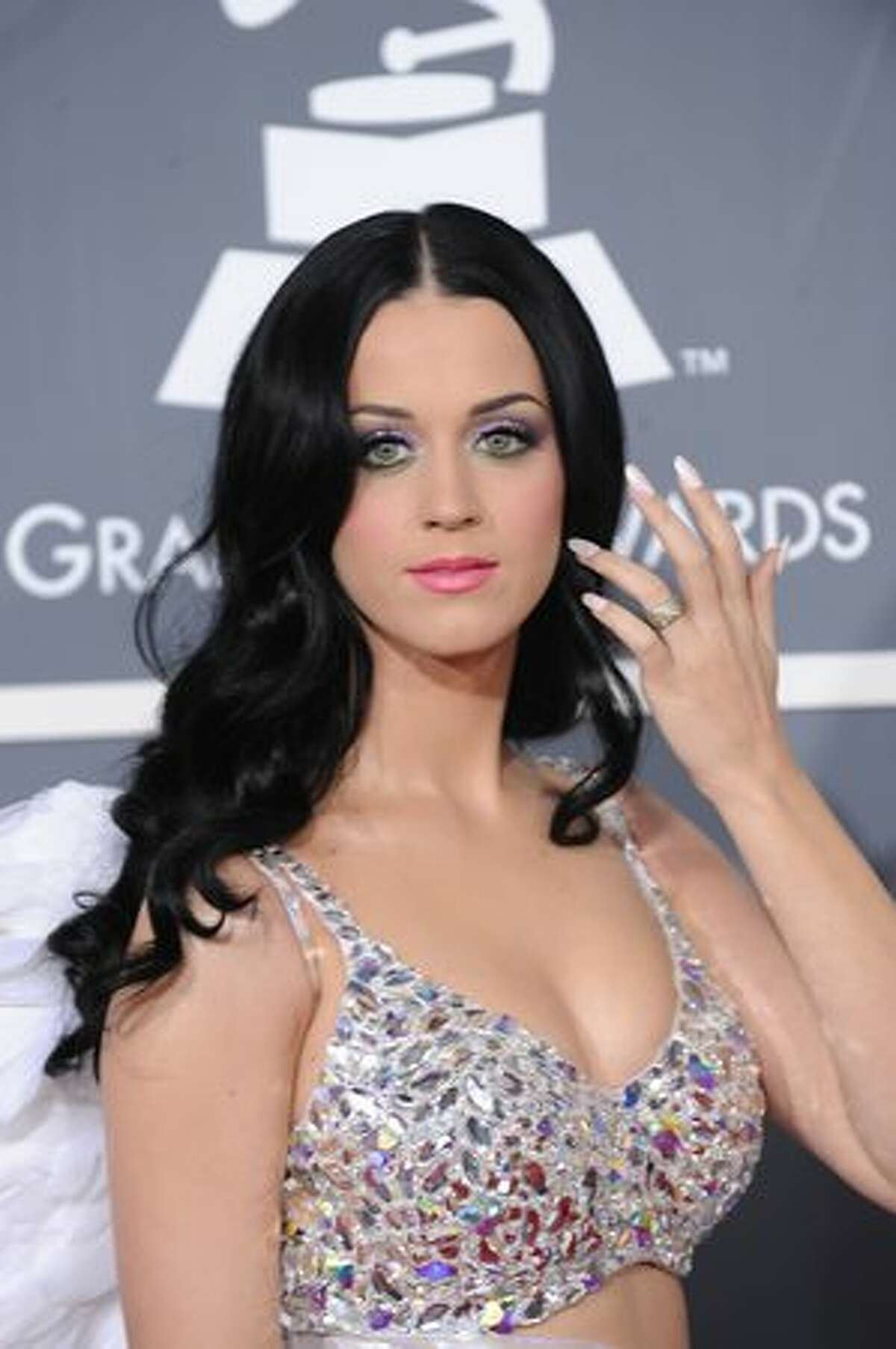 Singer Katy Perry arrives for the 53rd annual Grammy Awards at the Staples Center in Los Angeles.