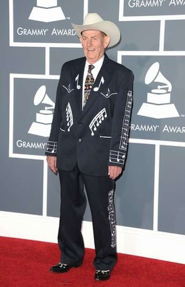 Why is Cajun musician D.L. Menard on this list? Because he knows who he is and where he is. So go ahead and make fun of the jacket and hat, if you want, but if you stop and think about it, this is exactly what a veteran Louisiana guitar player and Cajun songwriter should be wearing to the Grammys. Photo: Getty Images