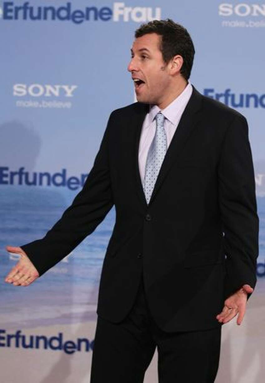 Actor Adam Sandler attends the 'Just Go With It' Germany premiere at CineStar in Berlin, Germany.