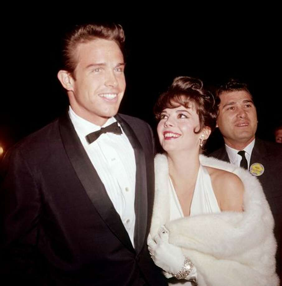 1962: Actors Natalie Wood (1938 - 1981) and Warren Beatty attend the Academy Awards, Santa Monica, Calif. Photo: Getty Images