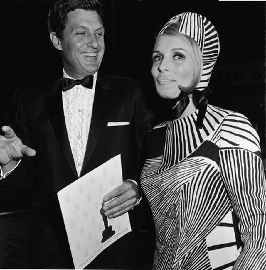 1967: Married actors Robert Stack (1919 - 2003) and Rosemarie Stack arrive for the 39th annual Academy Awards in Los Angeles. Photo: Getty Images