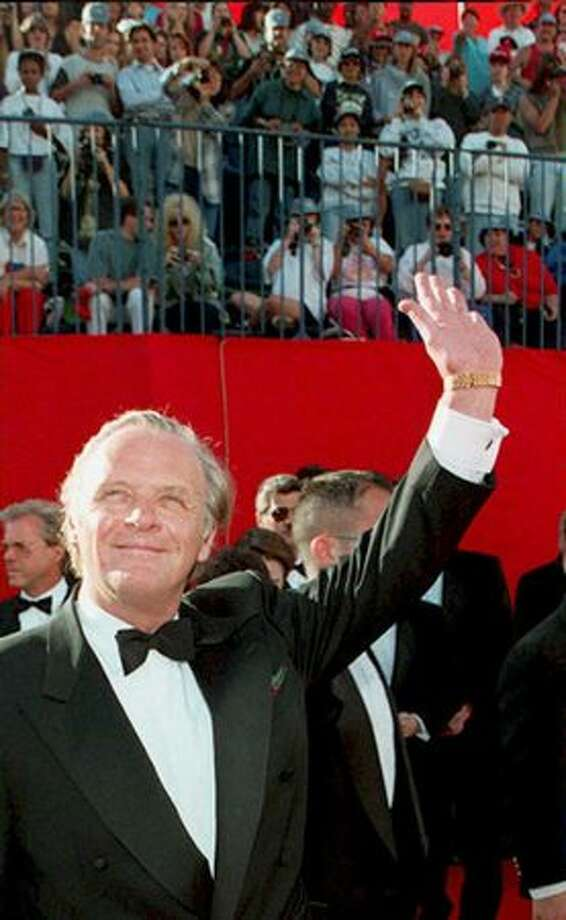 1995: Sir Anthony Hopkins arrives for the 67th annual Academy Awards ceremony in Los Angeles. Hopkins presented the award for best screenplay adaptation. Photo: Getty Images