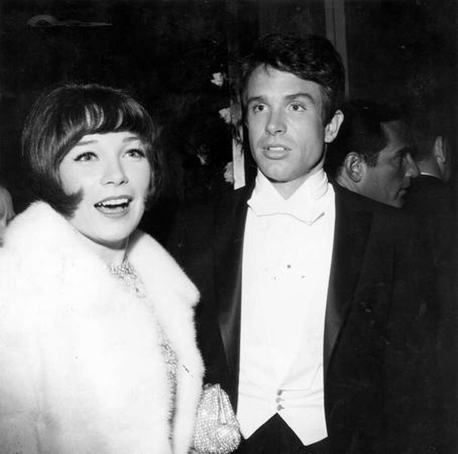 1966: Shirley MacLaine and her actor/brother Warren Beatty at the annual Academy Awards reception in Santa Monica. Photo: Getty Images