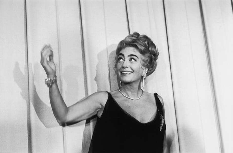 1962: Actress Joan Crawford (1904 - 1977) at the Oscars award ceremony in Hollywood. Photo: Getty Images