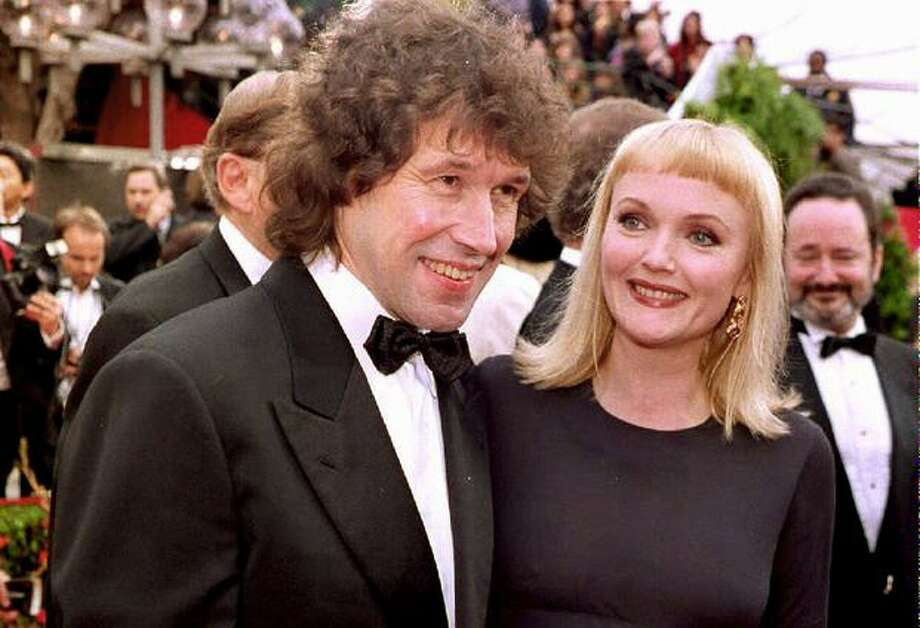 "1993: Irish actor Stephen Rea, nominee for Best Actor for his performance in ""The Crying Game,"" arrives at the 65th annual Academy Awards ceremony with British co-star Miranda Richardson. Richardson received a nomination for best supporting actress for her role in ""Damage."" Photo: Getty Images"