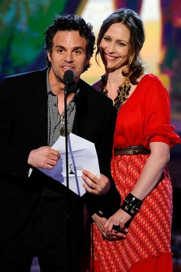 Actors Mark Ruffalo and Vera Farmiga present onstage. Photo: Getty Images