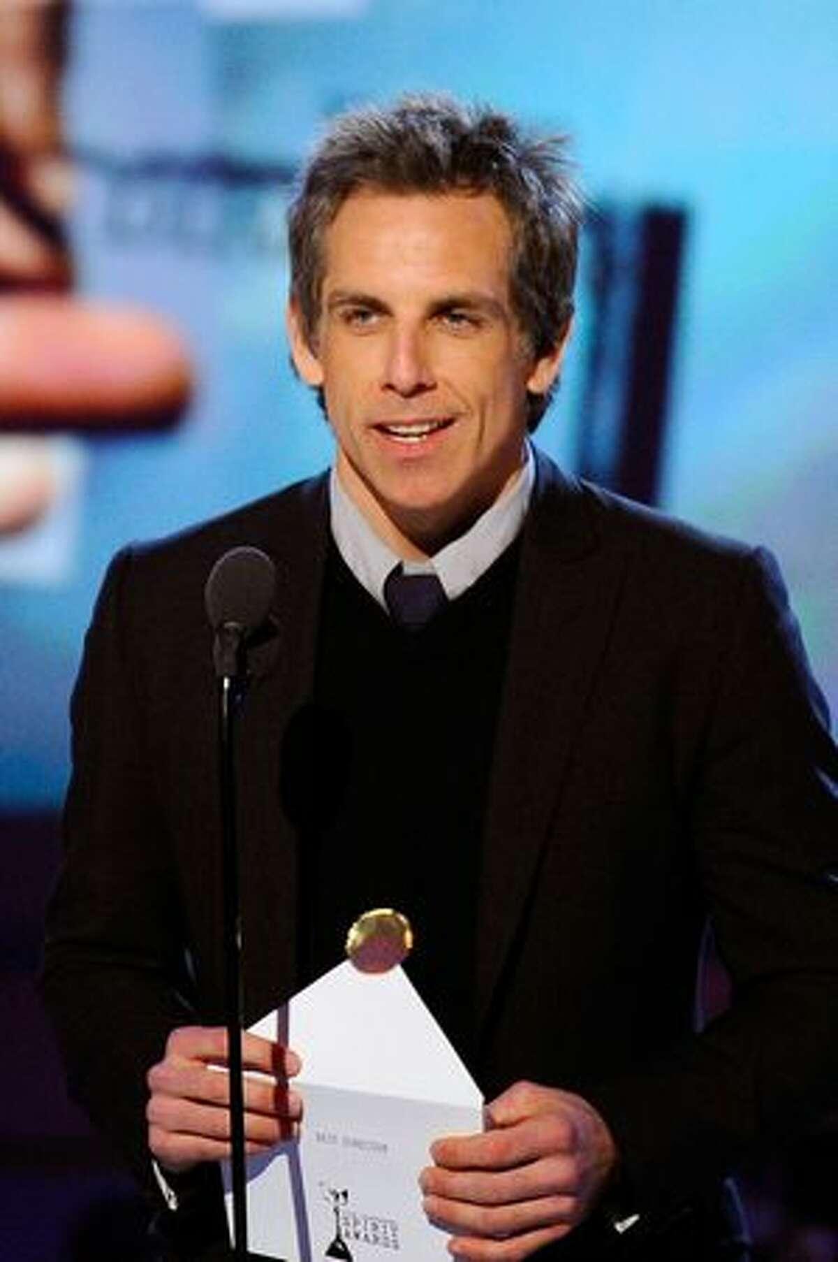 Actor Ben Stiller presents onstage.