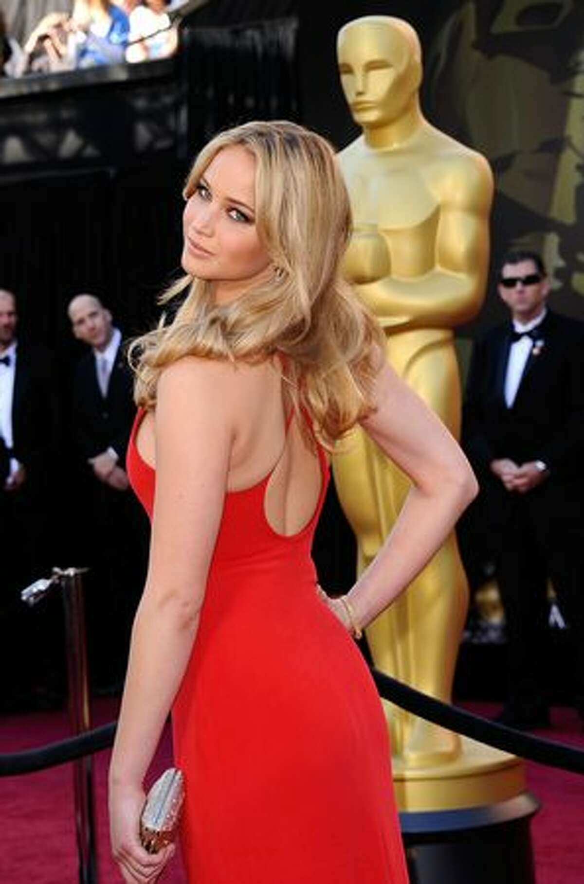 Actress Jennifer Lawrence arrives at the 83rd Annual Academy Awards held at the Kodak Theatre in Hollywood, California.