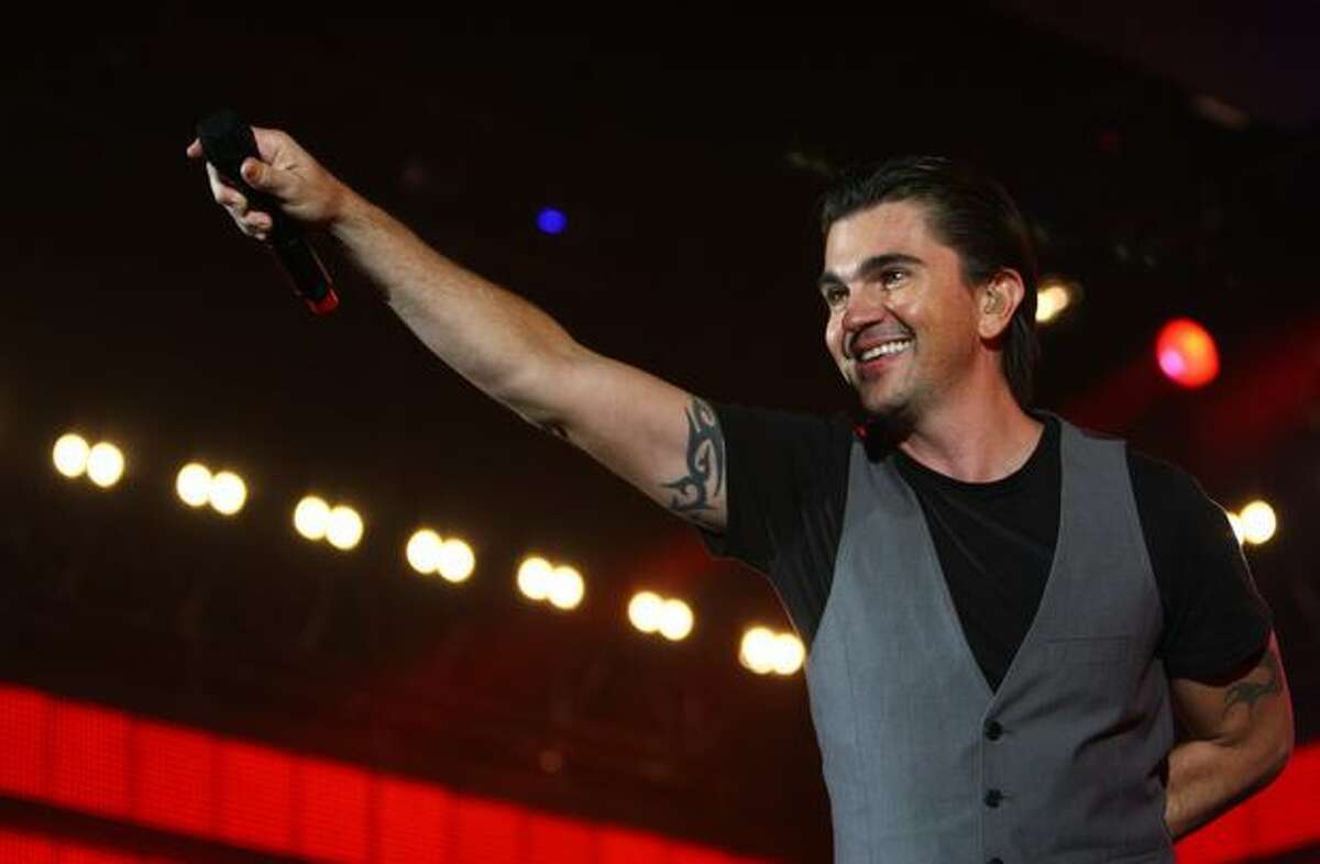 Colombian musician Juanes performs on Thursday, March 10, 2011 at WaMu Theater, kicking off his P.A.R.C.E. world tour. The Latin music star was named by Billboard Magazine as Latin music's star of the decade.