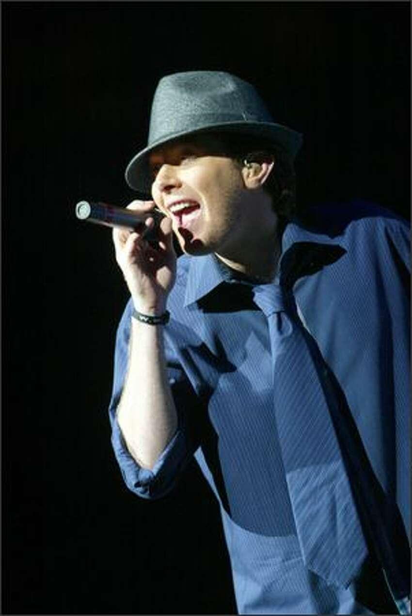Pop star Clay Aiken performs at Key Arena.