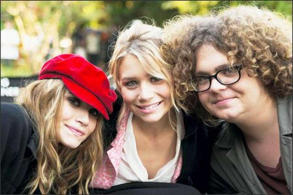 From left, Mary-Kate Olsen, Ashley Olsen and Jack Osbourne.