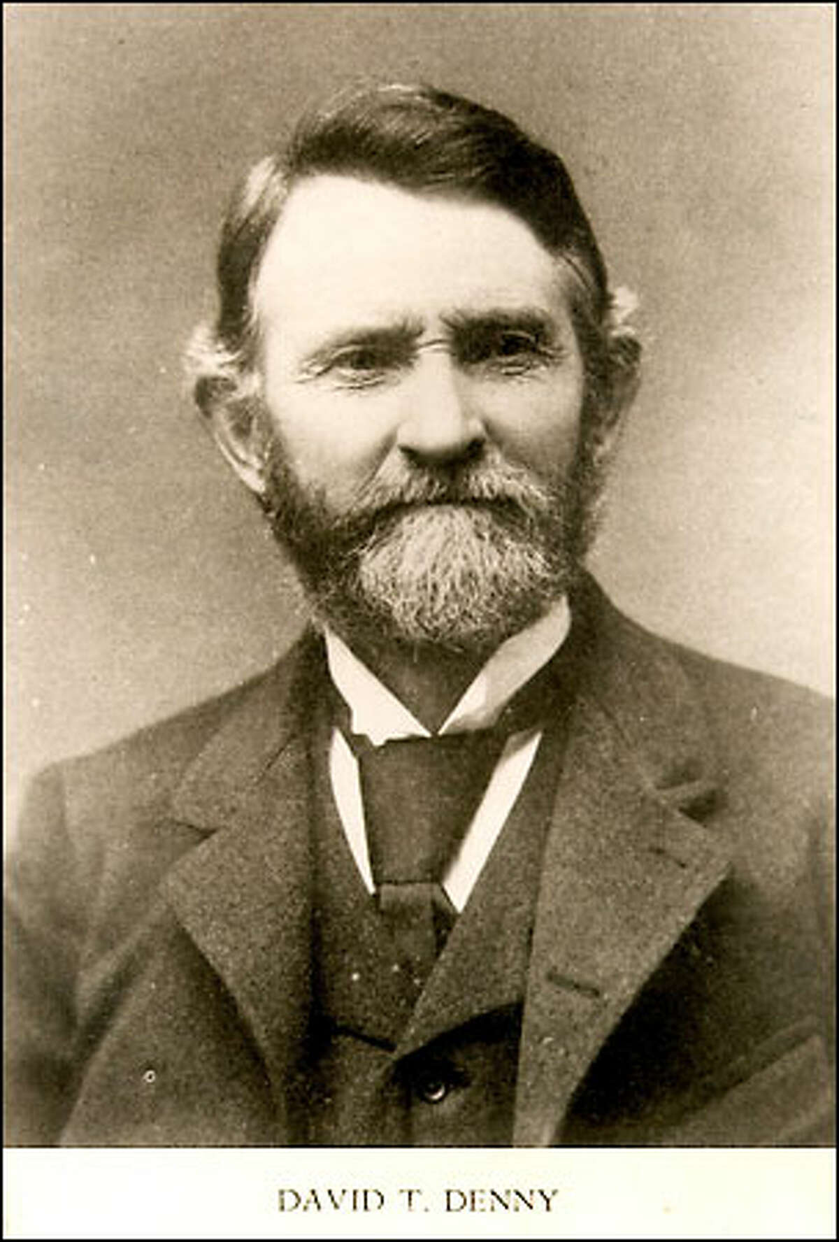 David T. Denny (1832-1903), came to the Pacific Northwest not to farm or cut trees but to build a city. David was the first member of the Denny party to arrive in Seattle in September 1851.