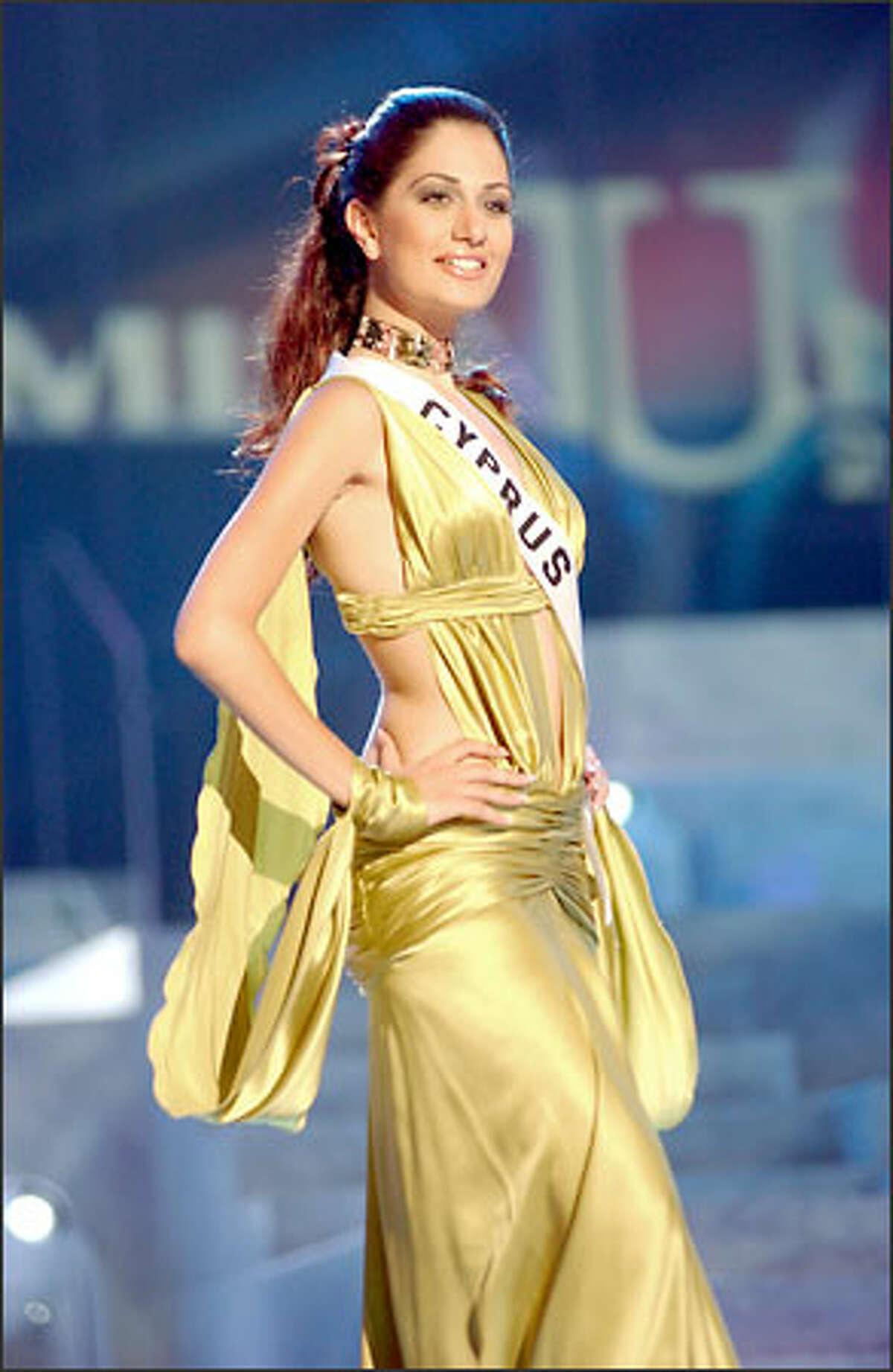 Nayia Iacovidou, Miss Cyprus.