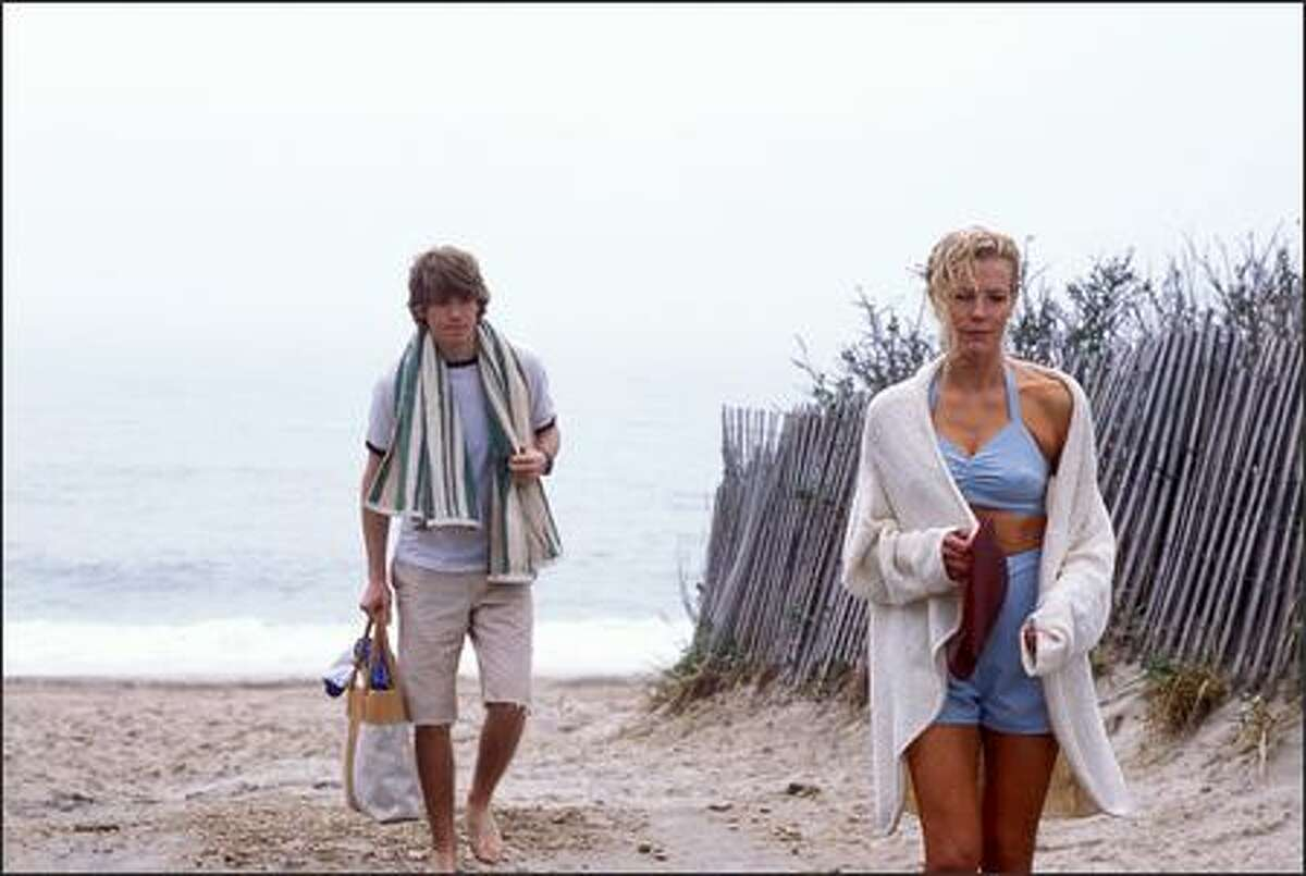 Eddie O'Hare (Jon Foster) and Marion Cole (Kim Basinger) are two parts of a tension-filled triangle in the film, based on the best-selling novel
