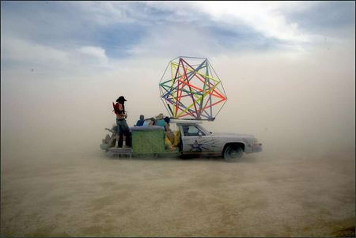 The Burning Man Festival is held in a flat, windy stretch of desert roughly three hours northeast of Reno.