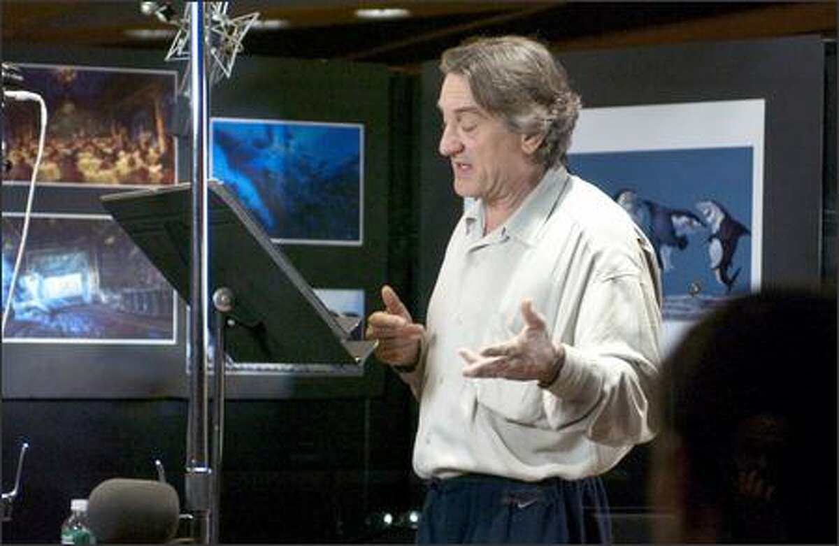 Robert de Niro gives voice to Don Lino, a great white shark at the top of the Reef's food chain.