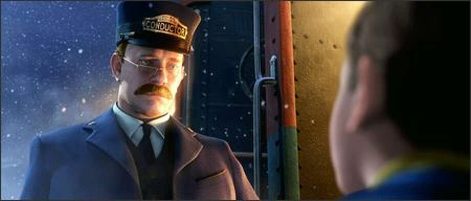 """The Polar Express"" -- The magic of motion capture takes Hollywood's cuddliest star into a creepy robo Tom Hanks. ""Polar Express"" is now a cautionary tale on life-like animation. Photo: Warner Brothers"