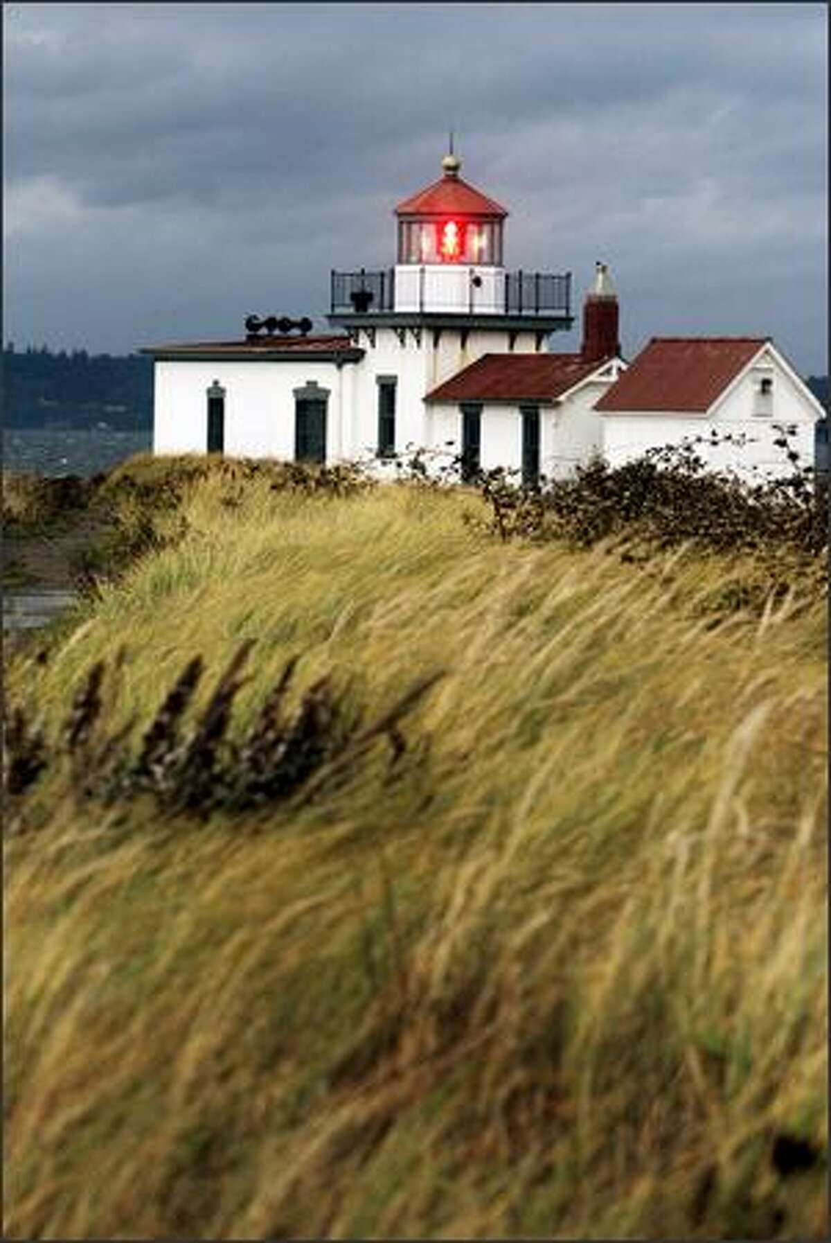 West Point Light Station west of Discovery Park.