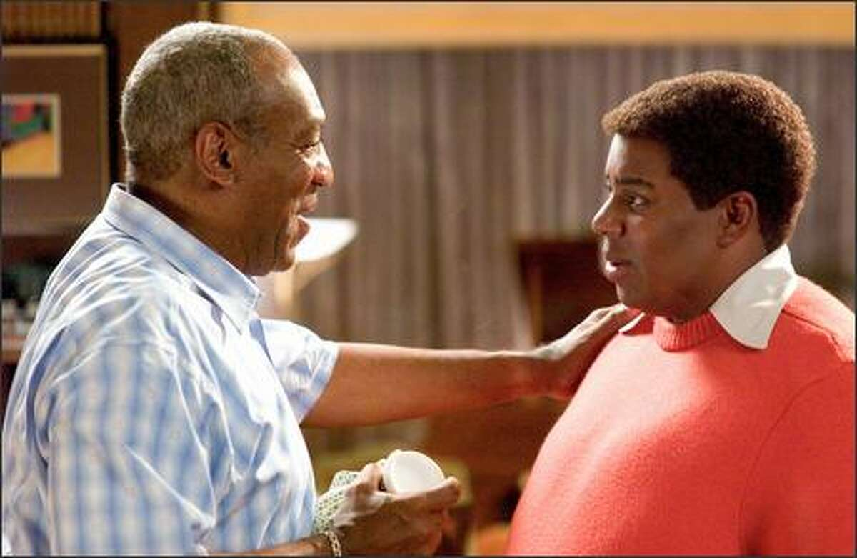 Fat Albert (Kenan Thompson, right) seeks advice from his creator, Bill Cosby (as himself).