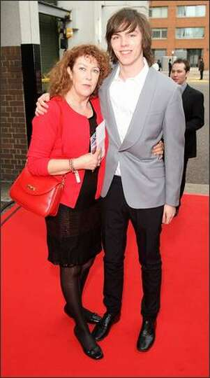Photo of Nicholas Hoult & his  Mother  Glenis Hoult