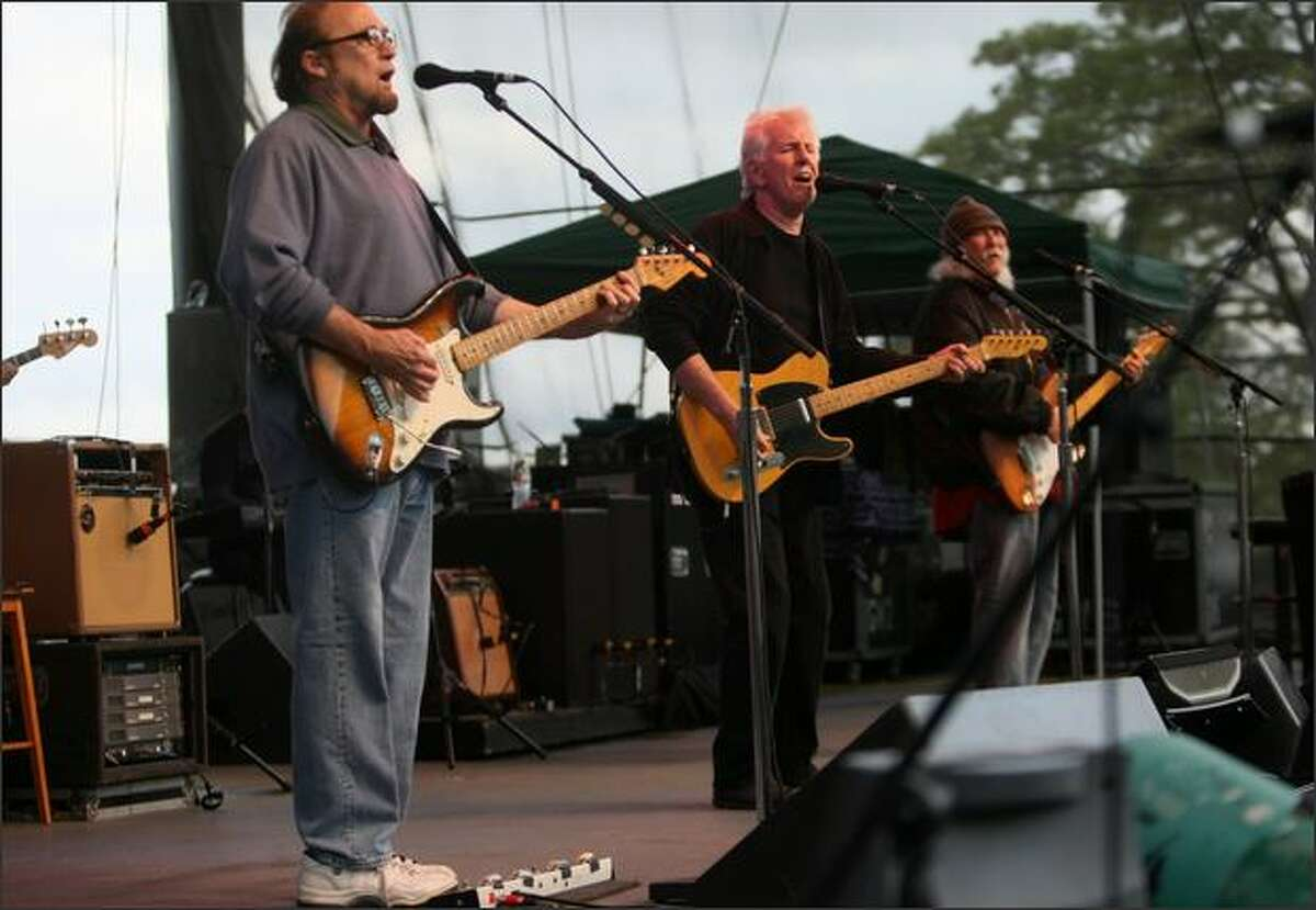 Stephen Stills, Graham Nash and David Crosby of Crosby, Stills & Nash perform at Chateau St. Michelle in Woodinville.