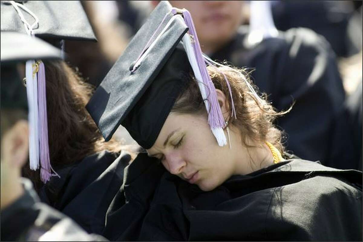 For some the commencement was a little too long.