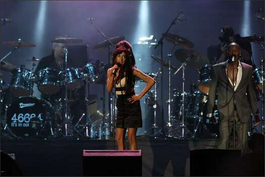 Amy Winehouse performs. Photo: Getty Images