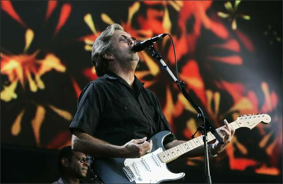 Eric Clapton performs at The Hard Rock Calling Festival on Saturday in London. Photo: Getty Images