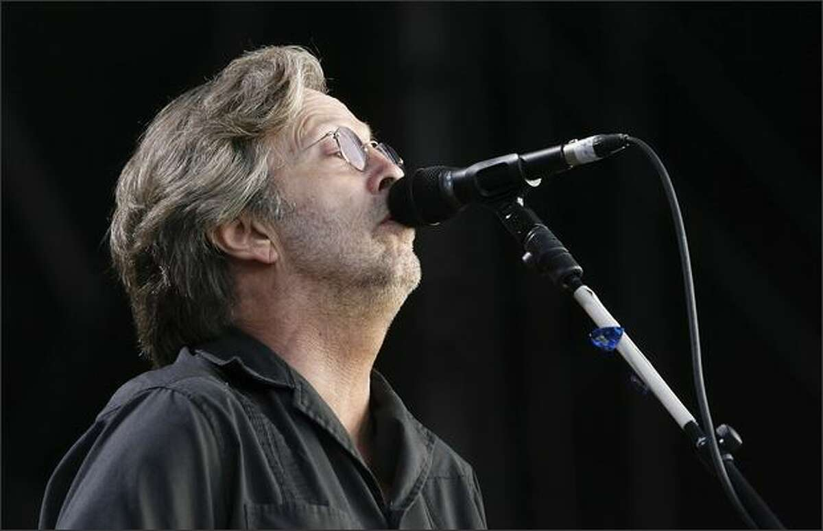 Musician Eric Clapton performs at the Hard Rock Calling Festival on Saturday in London.