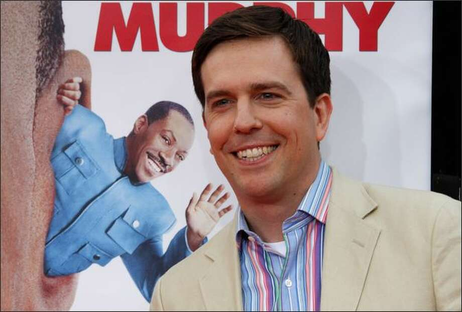 "Actor Ed Helms arrives at the Premiere Of 20th Century Fox's ""Meet Dave"" at on Wednesday at The Mann Village, in Westwood, Calif. Photo: Getty Images"