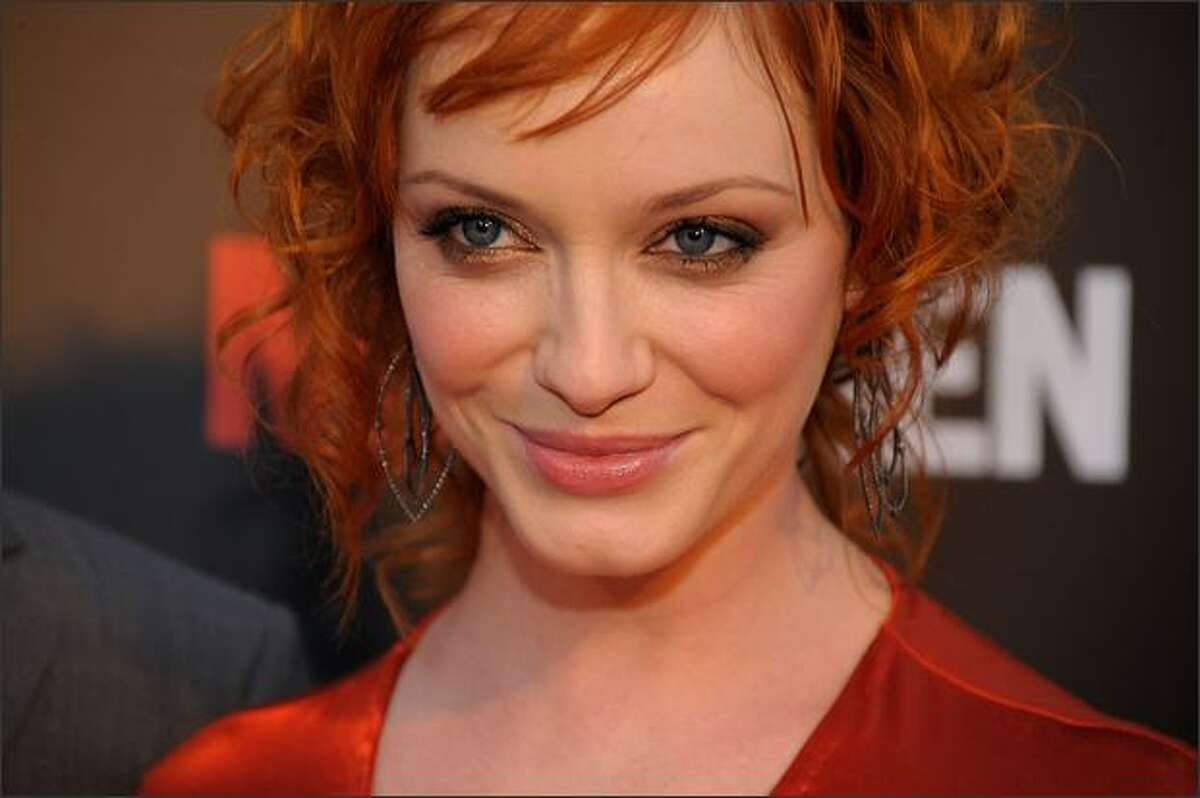 Actress Christina Hendricks attends the premiere of 'Mad Men - Season 2' at the Egyptian theater on Monday in Los Angeles, Calif.