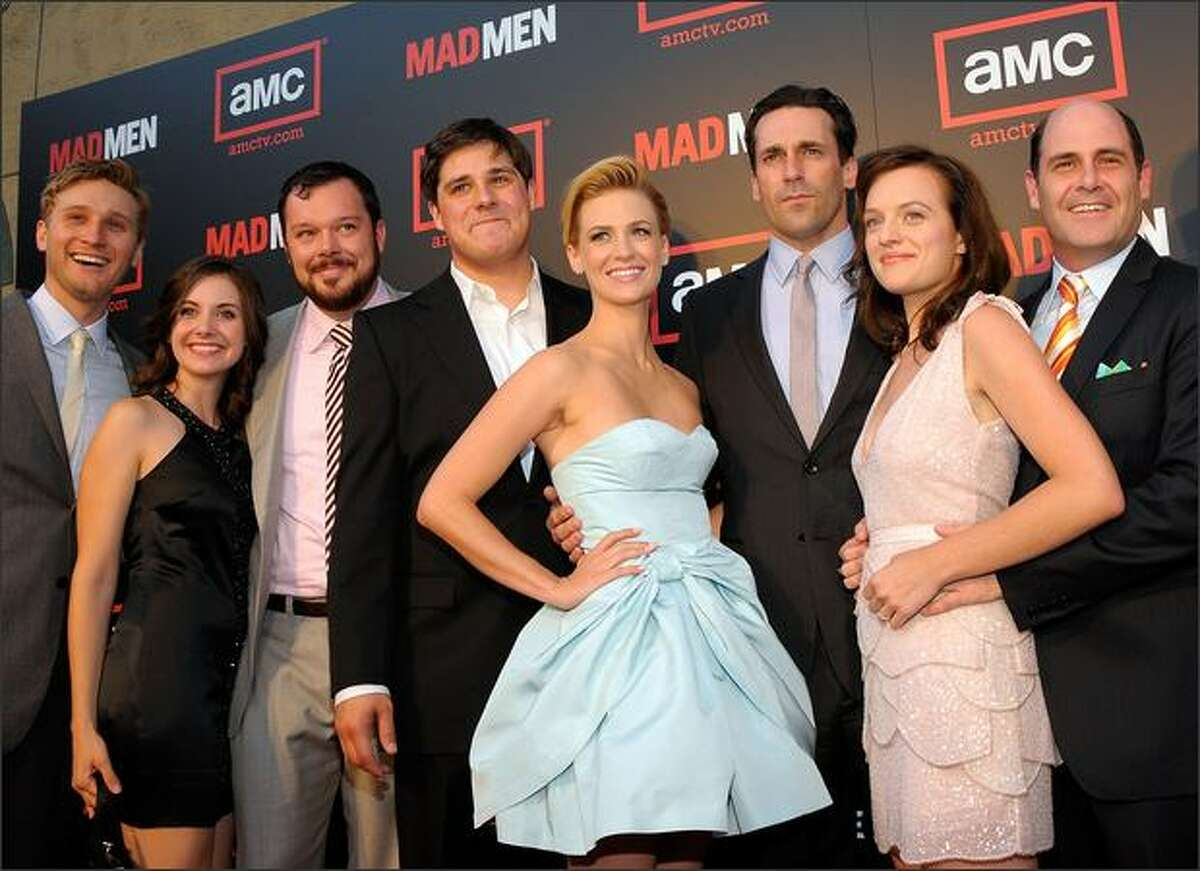 The cast and crew of 'Mad Men' attend the premiere of 'Mad Men - Season 2' at the Egyptian theater on Monday in Los Angeles, Calif.