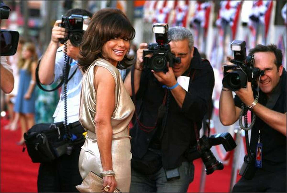 Singer Paula Abdul arrives at the premiere of