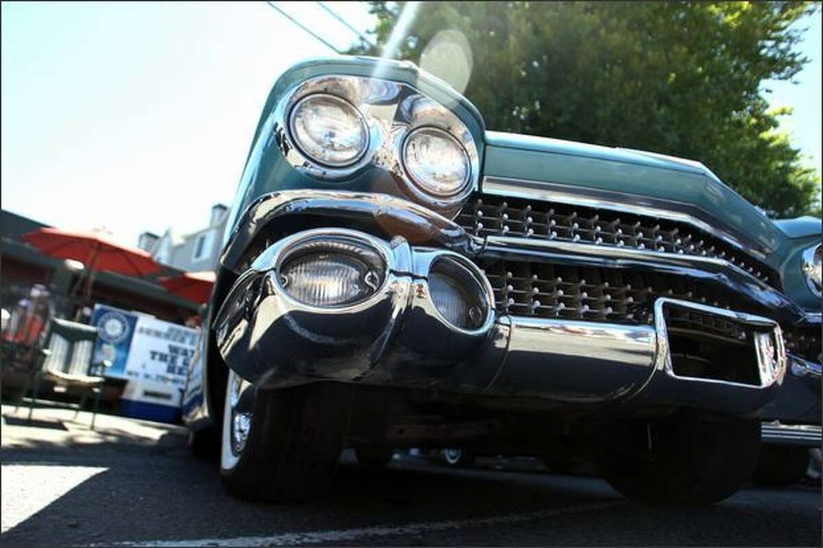 A 1959 Cadillac Coupe de Ville owned by Mike and Norma Thompson.