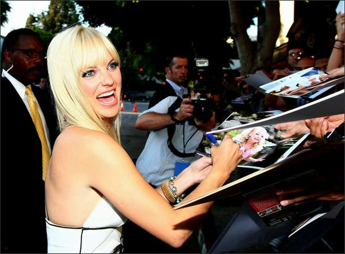 """Actress Anna Faris arrives at Columbia Pictures' premiere of """"House Bunny"""" held at the Mann Village Theater on Wednesday in Westwood, Calif."""
