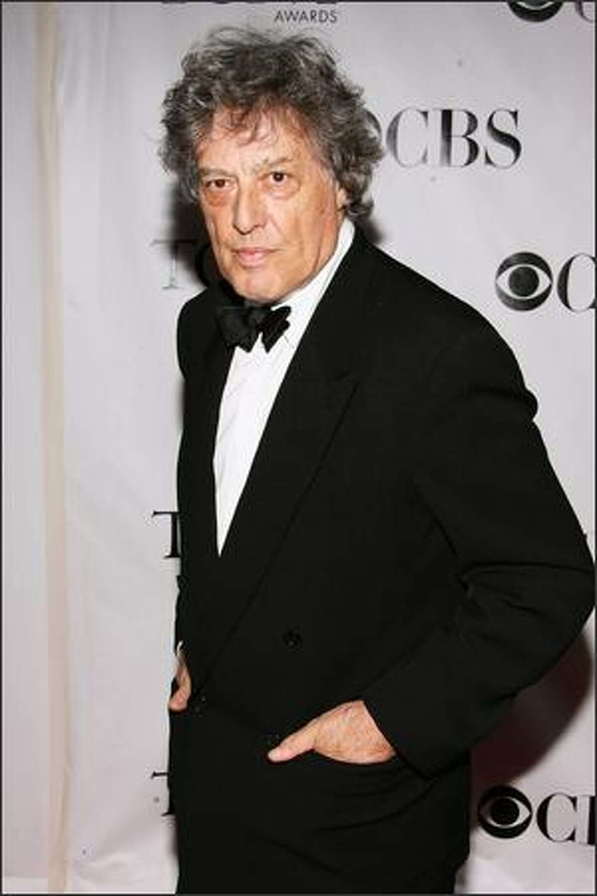 Writer Tom Stoppard arrives at the 62nd Annual Tony Awards held at Radio City Music Hall on Sunday in New York.