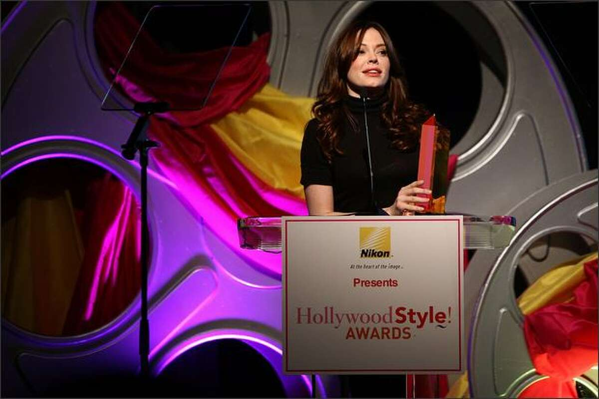 Actress Rose McGowan attends Hollywood Life's 5th annual Hollywood Style Awards held at the Pacific Design Center on Sunday in West Hollywood, Calif.