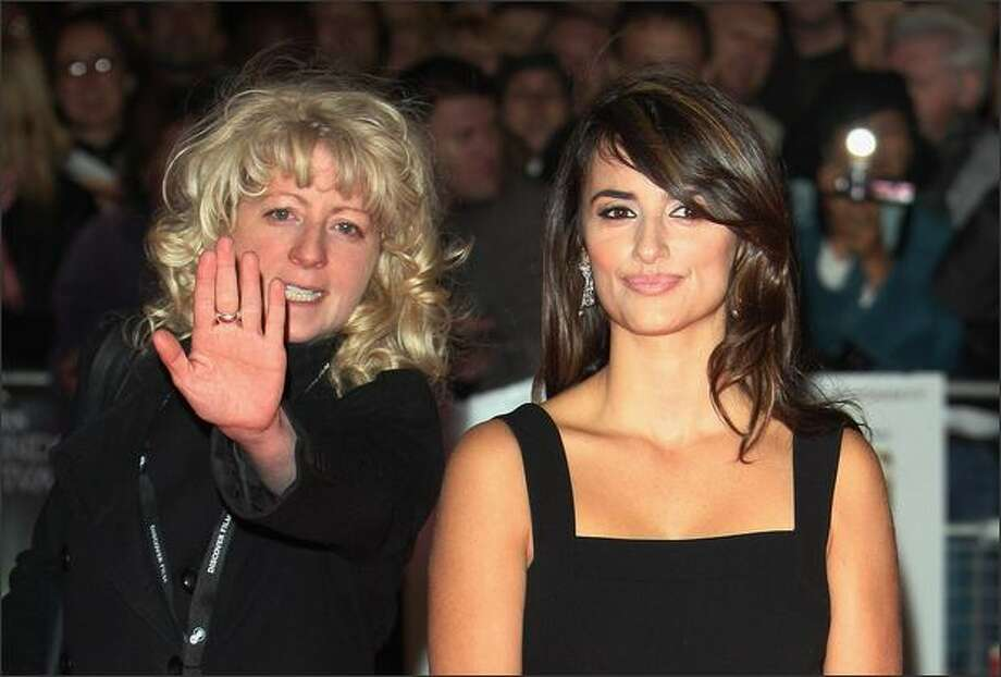 "Actress Penelope Cruz and her publicist Caroline Turner arrive at the premiere of ""Vicky Cristina Barcelona"" during the BFI 52nd London Film Festival, at the Odeon Cinema in Leicester Square, London, on Tuesday. Photo: Getty Images"