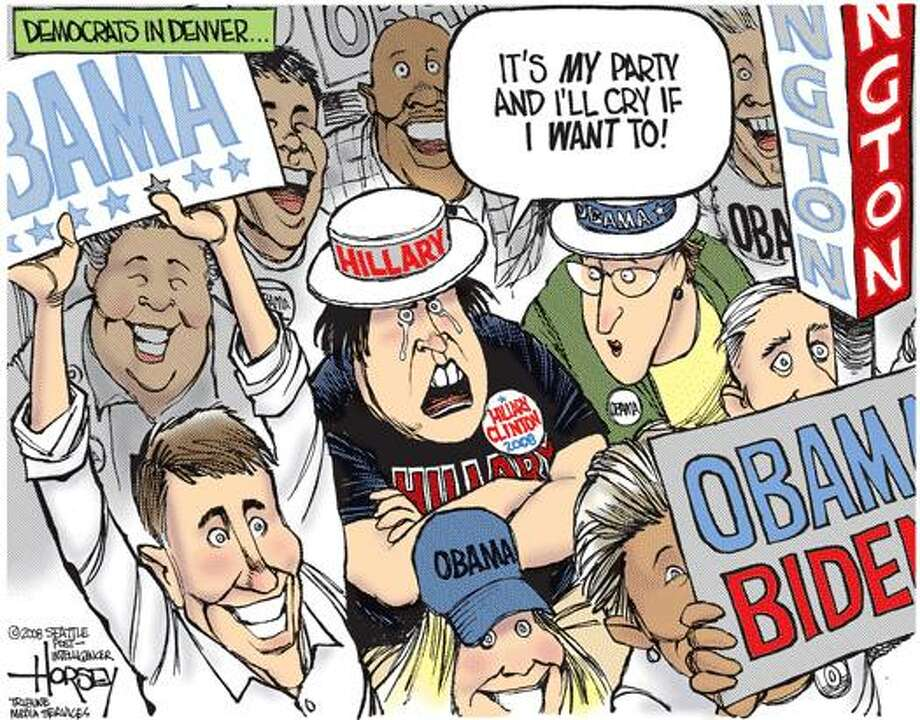 Hillary supporters ... can cry if they want to Photo: David Horsey, Seattle Post-Intelligencer